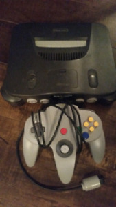 Nintendo n64 with games