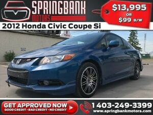 2012 Honda Civic Coupe Si w/Sunroof $99B/W INSTANT APPROVAL, DRI