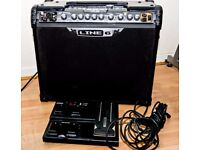 Line 6 spider jam 75 watt modelling amp with dedicated footswitch fbv express