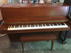 LESAGE Apartment/Compact Size PIANO with Bench