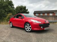 Peugeot 307 Convertible 1.6 Petrol Full Years Mot Low Mileage Service History Drives Great Cheap Car
