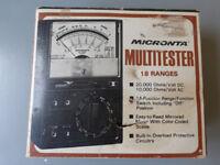 micronta multitester 20,000 OHMS VOLT DC