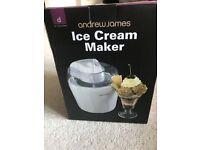 Andrew James Ice Cream Maker - White - BRAND NEW NEVER USED £25 or nearest offer