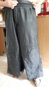 LADIES CUSTOM MADE LEATHER MOTORCYCLE PANTS