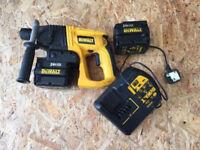 Dewalt 24 v sds two batteries and charger