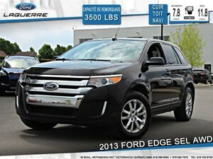 2013 Ford Edge SEL**AWD*CUIR*TOIT*NAVI *CAMERA*A/C**