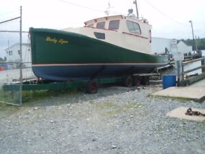 Classic 37' Northumberland Boat for Sale with trailer