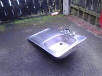 stainless steel sink with mixer taps working perfectly first 2 see will buy