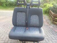 Double seat for Fiat Ducati/Peugeot Boxer/Citroen relay van.