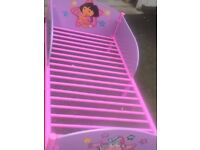 2 pink toddler beds Mickey Mouse and Dora 15 pounds each