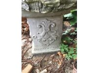 Vintage Victorian style garden plinth