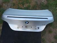 BMW e60 5 series boot lid in silver with spoiler