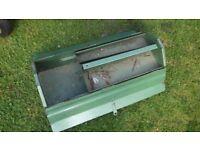 vintage metal toolbox