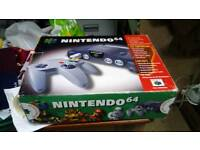 Nintendo 64 boxed and never been used, still in its original packaging! Rare