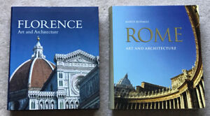FLORENCE and ROME Art & Architecture Coffee Table Books - $70