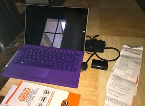 MICROSOFT SURFACE 3 PURPLE W/ACCESORIES + GEEK SQUAD