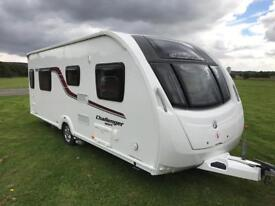 2015 SWIFT CHALLENGER SPORT *FIXED ISLAND BED* 4 BERTH SINGLE AXLE TOURING CARAVAN