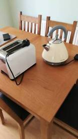 Cream morphy richards kettle & russell hobbs toaster