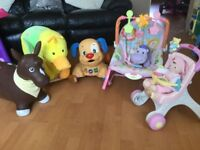 Selection Of Baby Walkers and Toys