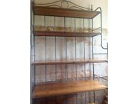 Wrought iron and pine shelves