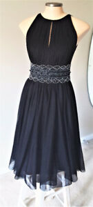 LeChateau Black Chiffon Dress