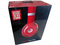 New Dr Dre beats studio wired headphones (red)