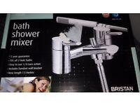 Britax oval bath shower mixer taps brand new boxed