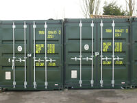 Storage container to rent.