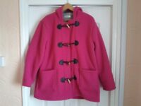 Womens Fleece Coat with tassles
