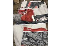 Bargain 16ft Pullman Caravan Motor Home Camping Awning Tent Hardly Used Curtains Peg Wardrobe Skirt