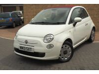 Fiat 500c - Full Main Dealer Service History - White paintwork with red seats - Viewing recommended