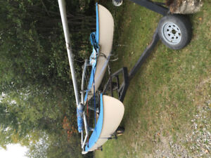 16 ft Hobie Cat and trailer