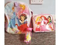 Official Disney store Disney Princesses School bag Lunch bag and water bottle