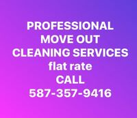 FLAT RATE CLEANING SERVICES (Call for a quote)