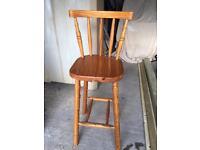Wooden bar stool £5