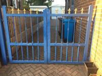 Wrought iron garden, driveway gates
