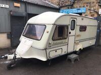 Abi Ambassador gt 5-berth caravan 90s-spec complete with awning toilet shower all hook-ups! £800!!