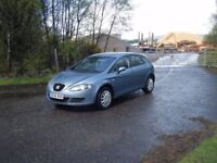 2006 NEW SHAPE SEAT LEON 1.6 LONG MOT SMOOTH RELIABLE CLEAN EXAMPLE NO OFFERS
