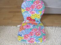 3 seat and back cushions, ideal for dining or patio chairs