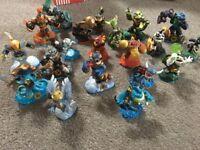 Various skylander figures