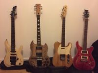 Electric Guitars for sale - Telecaster - Vintage SG - Washburn Chicago - PRS Style semi hollow