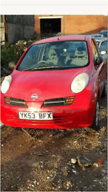 Nissan MICRA k12 1.0 2003 red spares breaking