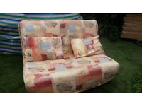 Sofa bed 2 seater metal action