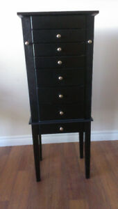 Large Black Jewellry Armoire