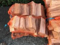 Logs kindling firelighters peat Briquettes