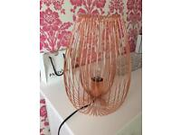 Stunning lamp one month d copper rose gold colour from bq current range