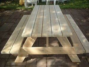 6' Hand Crafted 2x6 Cedar and Pressure Treated Picnic Tables