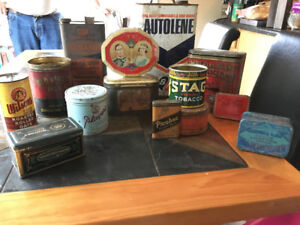 Old lot of tins