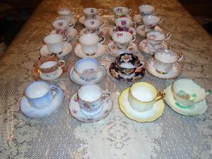 Royal Albert Cup and Saucers 20 - $180