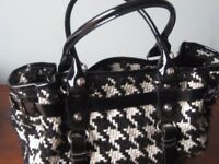 Handbag, Leather & Textured Wool, in style of chanel - NEW Condition